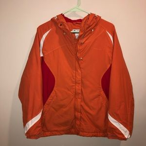Columbia Insulated Winter Jacket Nylon orange Ski